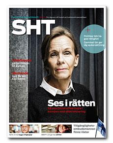 Omslaget till SHT 6-2012. Agneta Broberg, diskrimineringsombudsmannen