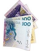 220 kronor i sedlar