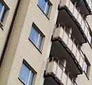 Balkonger på ett flervåningshus