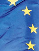 Utsnitt från en EU-flagga