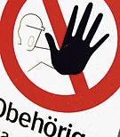Tillträde förbjudet skylt