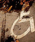 Tom handikapparkeringsplats