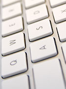 En del av ett tangentbord