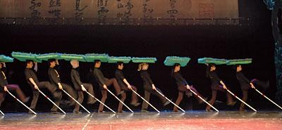 Kinas konst-trupp tränar inför Paralympics i Peking.