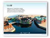 En skärmdump av riksdagens viruella rundvandring. Visar riksdagshuset från nordväst.