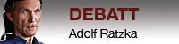 DEbattvinjett med bild på Adolf Ratzka