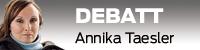 Debattvinjett med bild på Annika Taesler