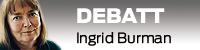 Debattvinjett med bild på Ingrid burman