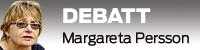 Debattvinjett med bild på Margareta Persson