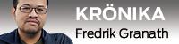 Krönike vinjett med bild på Fredrik Granath