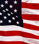 Utsnitt från den amerikanska flaggan